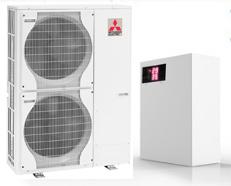 Тепловые насосы многокомпрессорные с блоками Mitsubishi electric инвертор